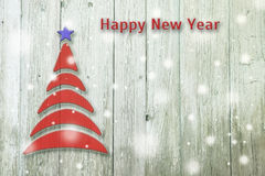 New Year and Christmas conceptual tree on an old wooden background. New Year and Christmas conceptual tree on an wooden background vector illustration
