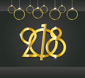 2018 New Year or Christmas dark background Stock Photo