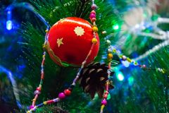 New year and Christmas decor royalty free stock photo