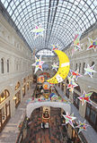 New Year Christmas decor in GUM department store. Moscow Stock Image