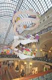 New Year Christmas decor in GUM department store. Moscow Stock Images