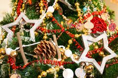 New year and Christmas decor stock photo
