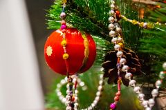 New year and Christmas decor stock image