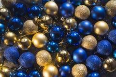 New year christmas decoration balls blue gold ball shiny glitter background. Of balls stock image