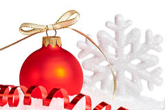 New Year 2015, Christmas decoration on white background Stock Photography