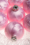 New Year, Christmas decorations. Balls pink color New Year, Christmas decorations Royalty Free Stock Photography