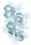 2015 New Year or Christmas decorations. Reading 2015 with snowflakes design element Royalty Free Stock Images
