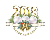 New Year 2018.Christmas decorations. Christmas decorations on a white background Stock Photo