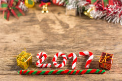 New year 2017 with christmas decorations Stock Photo