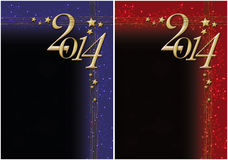 New year 2014. Christmas design about new year 2014 Stock Images