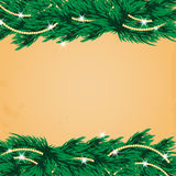 New Year and Christmas design with Christmas tree Stock Image