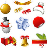 New Year and Christmas design elements Royalty Free Stock Image