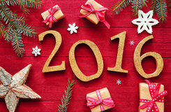 2016 New Year And Christmas Design Stock Photography