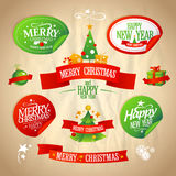New year and Christmas designs collection. Stock Photography