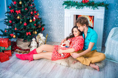 New year and Christmas in the family circle Royalty Free Stock Image