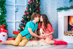 New year and Christmas in the family circle Stock Images