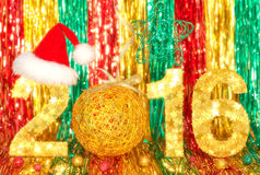 New Year 2016. Christmas. Festive vivid colorful Stock Images