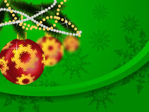New year and christmas. New year Christmas fir-tree and Christmas tree decorations Stock Images