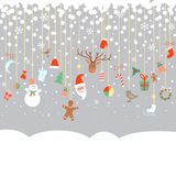 New Year and Christmas garland Royalty Free Stock Photos
