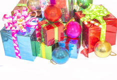 New Year and Christmas gift. Royalty Free Stock Photos