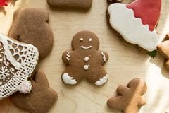 New Year Christmas Gingerbread Cakes.  Stock Photo