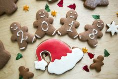 New Year Christmas Gingerbread Cakes.  Stock Photography