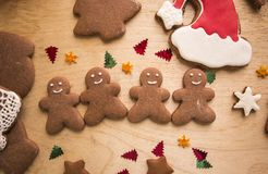 New Year Christmas Gingerbread Cakes.  Stock Image