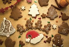 New Year Christmas Gingerbread Cakes Stock Image