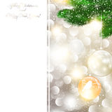New Year and Christmas Greeting card Stock Photography
