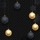 New Year or Christmas greeting card background template of golden ball decoration. New Year or Christmas greeting card background template of golden ball Stock Photography