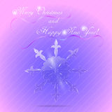 New Year and Christmas Greeting Card Stock Photo