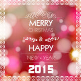 New year and christmas greeting card design. Easy editable vector illustration