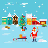 New Year and Christmas greeting card Stock Photos