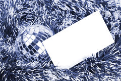New Year & Christmas greeting card, toned blue royalty free stock photos