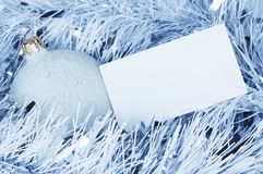 New Year & Christmas greeting card, toned blue Stock Photo