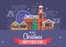 New Year and Christmas Greeting Card Royalty Free Stock Photo