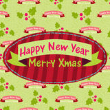 New Year and Christmas greeting card with the word Royalty Free Stock Images