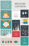 New Year and Christmas Greeting Cards and Banners Stock Photos