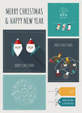 New Year and Christmas Greeting Cards and Banners Royalty Free Stock Photo