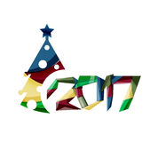 New Year and Christmas holiday elements Stock Images