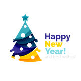 New Year and Christmas holiday elements Stock Image