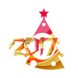 New Year and Christmas holiday elements Stock Photography