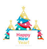 New Year and Christmas holiday elements Royalty Free Stock Photos