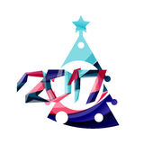 New Year and Christmas holiday elements Stock Photo