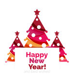 New Year and Christmas holiday elements Royalty Free Stock Image