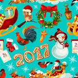 New Year and Christmas holidays seamless pattern Royalty Free Stock Photography