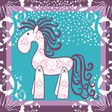 New year, christmas,horse.  Vector elements for design. Stock Photography