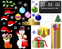 New year and Christmas icons. Stock Images