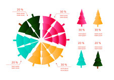 New year/Christmas info graphics Royalty Free Stock Photography