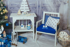 New year and Christmas Interior Studio Royalty Free Stock Images